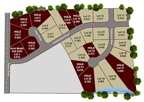 Heritage at Troy County Club lot map