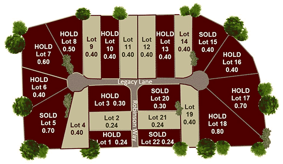 Heritage Village at Troy Country Club lot map