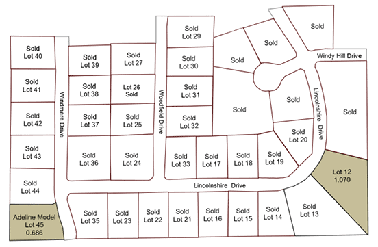 The Reserves of Merrimont lot map
